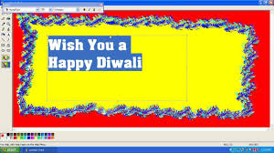 how to create a birthday card on microsoft word how to create diwali greeting card in windows mspaint youtube