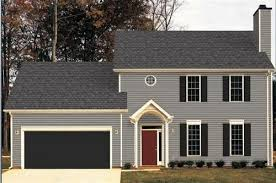 garage door black goes with house