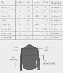 leather jacket size chart jacket size chart mens dolap magnetband co
