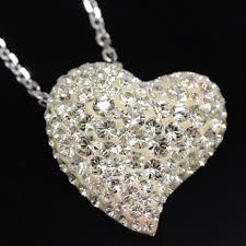 swarovski alana clear crystal heart motif necklace