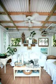 corrugated tin ceiling panels backyard bungalow with corrugated metal roof fisher designs ceiling system creative ways corrugated tin ceiling