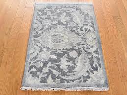 2 x3 silk with oxidized wool hand knotted oushak influence oriental rug moac97de the rug ping