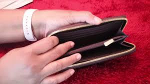 COACH Accordion Zip Wallet in Crossgrain Leather   Pauline Newman