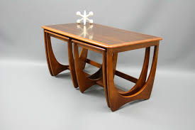 incredible mid century nest of coffee tables kalmar sleigh legs retro pics modern nesting trend and