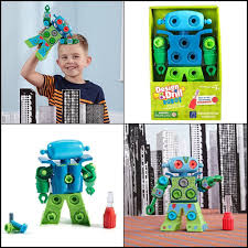Design And Drill Robot Design Drill Robot Toy Colorful Stem Learning Educational
