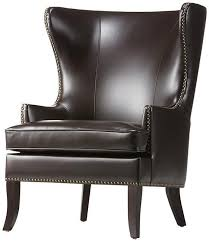 nailhead trim seating moore wingback chair homedecorators com leather wingback chair brown leather