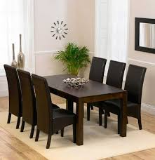 dining table and 6 red leather chairs. versailles dark solid oak dining table with 6 dakota brown chairs (extensions optional) and red leather