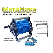 original maya garden hose reel set 20m with wall mounted bracket