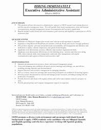 Executive Assistant Job Description Resume Socalbrowncoats
