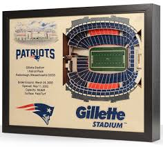 Kyle Field 3d Seating Chart New England Patriots Wooden 25 Layer Stadiumview 3d Wall Art
