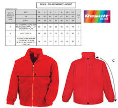 Fleece Jacket Size Chart Size Guide The Peoples Mosquito Store