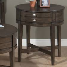 round end tables with drawers
