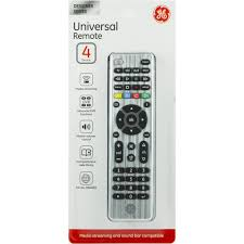 Ge Remote Access Ge Universal Remote 4 Devices Brushed Silver Walmartcom