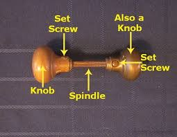 antique doorknob diagram