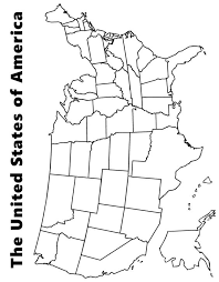 Small Picture Map of the USA coloring page kids Pinterest Social studies