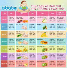 Thực đơn ăn dặm truyền thống cho bé 7 tháng - Tuần 2 (Dành cho bé ăn dặm  tích cực - Ngày ăn 1-2 bữa) - bibabo.vn