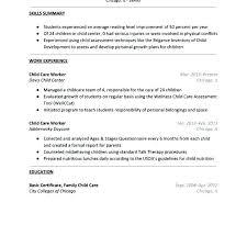 Ideas Of Child Care Center Resume Objective Care Provider Resume