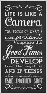 Life Quote Cool Inspirational Life Quote Life Is Like A Camera Focus Capture