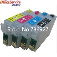 <b>1Set Empty Refillable</b> ink Cartridge T1331 For Epson TX125 TX130 ...