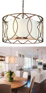 Gold Drum Shade Pendant Home Decor In 2019 Dining Lighting