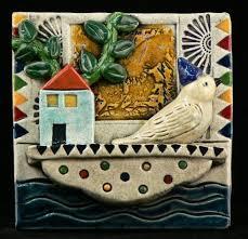 ceramic tile bird on houseboat clay tilesart tilesmosaic tilesceramic wall artceramic  on clay wall art pottery with 131 best ceramic tile images on pinterest art tiles tiles and art