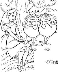 Small Picture Alice And Wonderland Coloring Pages Free Printable Alice In