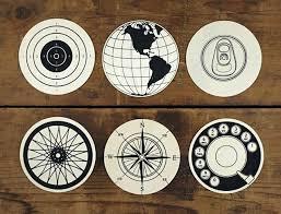 Wood Circular Graphic Coasters | My Moon My Man | Pinterest | Design,  Coasters And Coaster Design