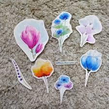 эскиз тату цветы акварель магнолия лаванда василек мои эскизы