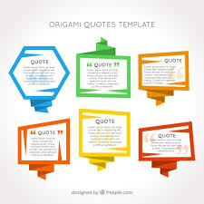 quote templates origami frames quotes template vector free download