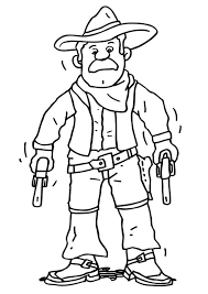 Coloring Page Cowboy Img 18235