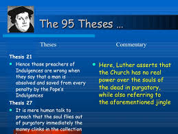 indulgences theses  commentary 4 the 95 theses