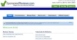 are you a lance writer check these sites that pay you to write sponsoredreviews homepage screenshot