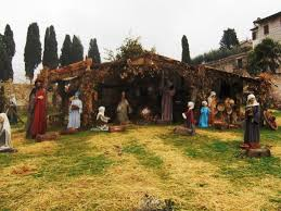 Nativity Scene outside Church of St. Francis | Photo