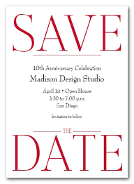 Red Save The Date Cards Bold Red Business Save The Date