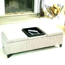 leather ottoman with tray storage ottomans trays exotic awesome flip top brown uk black stora
