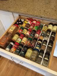 Kitchen Spice Organization Ikea Variera Drawer Insert For Spice Jars Keeps The Spices