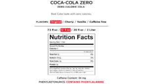Coca Cola Nutrition Chart Coke Zero To Coke Zero Sugar Platform Magazine