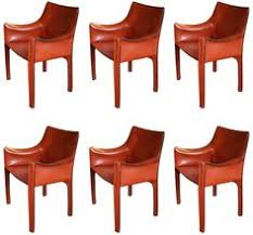 set of six mario bellini cab armchairs for cina