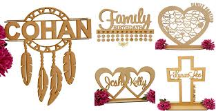 <b>Laser Cut</b> Wooden and Acrylic Gifts and Keepsakes