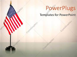 American Flag Powerpoint Powerpoint Template An American Flag With White Background