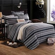 black white and taupe and dark gray pinstripe and rugby stripe print simply shabby chic full queen size bedding sets