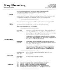 General Resume Template 30 Basic Resume Templates