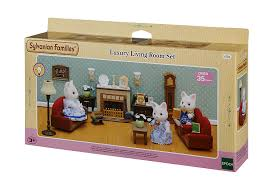 Sylvanian Families Bedroom Furniture Set Sylvanian Families Luxury Living Room Set Amazoncouk Toys Games