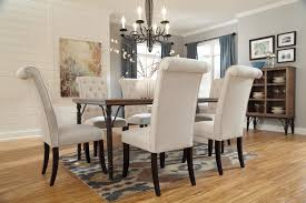 awesome design rectangle dining table set 7 piece rectangular room w wood top metal legs sets