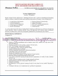 System Administrator Resume Format For Fresher Sample Linux Earpodco Impressive Linux Fresher Resume Format