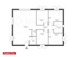 Plan De Maison 100m2 Avec Plan Dune Maison Plein Pied De 100m2 Et