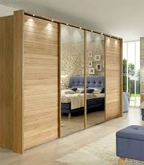 Modern Bedroom Cupboard Designs With Mirror Stylform Jupiter 250 400cm Semi Solid Oak Glass Mirrored