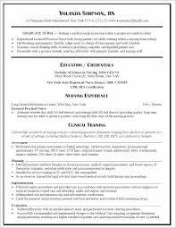 New Grad Nursing Resume