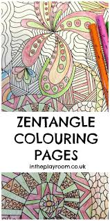 Zentangle Colouring Pages Free Printable Zentangle