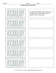 vocabulary list template science vocabulary template bharathb co